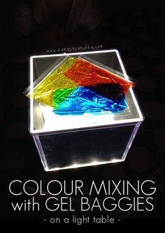 Colour Mixing With Gel Baggies on a Light Table | Mama.Papa.Bubba.