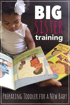 big sister training, preparing toddler for new baby, toddler becoming a big sister