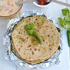 Broccoli & Corn Stuffed Parathas