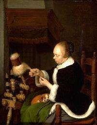 De Spinster, Gerard Ter Borch, 1652  Boymans van Beuningen, Rotterdam