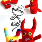 Glove MONSTERS! This is so flippn cute Kloie would love to make on of these