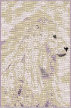 Magnificent Lion -  Peyote Chart Pattern offered at www.etsy.com/listing/160923205.