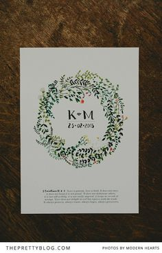 Hand illustrated invites. Matthew & Katrin's Street Festival Wedding | {Real weddings} | The Pretty Blog