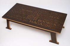 Typography Table by Peter Haggard
