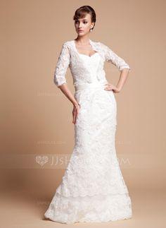 Half-Sleeve Spitze Hochzeit Bolero (013014587)