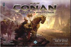 Age of Conan: The Strategy Board Game (2009) puts players in control of one of the major kingdoms of the Hyborian age, in the period of history well known through the tales of the adventures of Conan the Cimmerian, the barbarian hero created by Robert E. Howard.  You will fight with armies, sorcery and intrigue to make your kingdom the most powerful of its age, and to secure on your side the mightiest hero of all – Conan the Cimmerian!