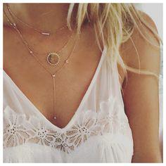 Customizable 14k 'You are my sunshine' necklace with diamonds // www.loganhollowell.com