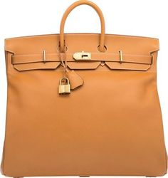 Hermes 50cm Natural Ardennes Leather HAC Birkin