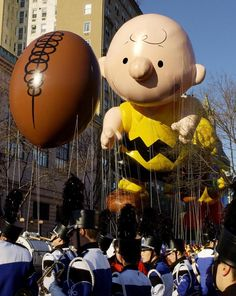 Charlie Brown chases a football in 2002.