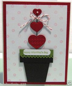 Stampin Up Valentine Heart Topiary Card Making Kit Handmade Love | eBay