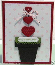 Stampin Up Valentine Heart Topiary Card Making Kit Handmade Love   eBay