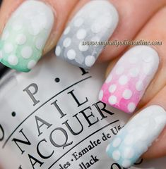 Faded Dots, ombre #nails!