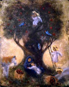 Посмотреть иллюстрацию Наталья Леонтьева - Яблочный спас..