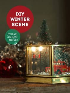 DIY HOLIDAY WEEK: an old light fixture gets a holiday overhaul  {the sweet escape}