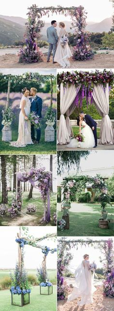 lavender wedding arch decoration ideas #weddingideas #weddingdecor #lavenderwedding #weddingtrends #weddingtheme