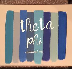 Theta Phi Alpha sorority crafts. DIY.