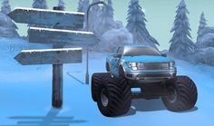 In this game you will have to prove that you got what it takes to win the ultimate winter offroad trophy.Pass obstacles such as houses, metal loops and other things that stand in your way to victory. What It Takes, Rally, Offroad, Victorious, 4x4, Monster Trucks, Houses, Games, Metal