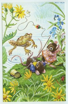 Racey Helps Postcard The Astonished Angler by HilltopPostcardShop