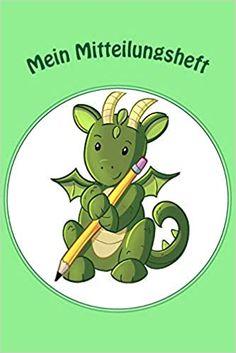Mein Mitteilungsheft: Dragon B&W: Ein Mitteilungsheft, das der Kommunikation zwischen Lehrer-Eltern dient. Das Heft ist ein guter Helfer für die Lehrer-Eltern-Kommunikation. Helfer, Fictional Characters, Communication