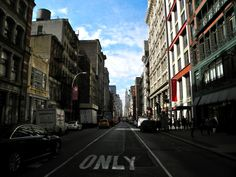 Shot mid crosswalk. NYC