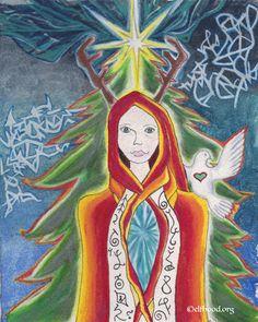 Tree Ælf's Christmas Presence #christmas art #elf art #heart art #mythic art #fantasy art