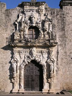 Mission San Jose y San Miguel de Aguayo in San Antonio. Reminder that Texas used to be a part of Mexico. stunning example of colonial baroque