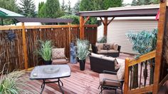 Black Bamboo Fencing is the perfect patio enclosure!