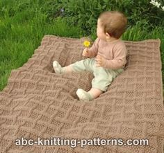 Free Pattern - Lattice Baby Blanket.