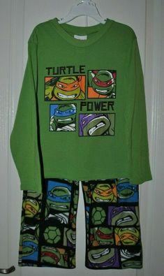Boys Long Sleeved Tops Teenage Mutant Ninja Turtles Navy Or Green