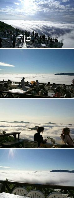 Hope I can be there one day. Next Destination! The Unkai Terrace in Alpha Resort (Tomamu, Hokkaido). Japan Countryside, Hotel Spa, Japan Travel, Mother Nature, Art Photography, To Go, Heaven, The Incredibles, Clouds