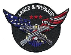 Patch Squad Men's Armed & Prepared American Eagle Embroidered Patch