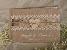 The Guestbook is a fabulous wedding keepsake, which you can read many years after your event . You can remind all the beautiful moments from your wedding any time! What do you think of this burlap natural birch bark wedding guest book idea from 4LOVEPolkaDots?