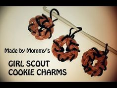 Girl Scout Cookie Charm for Rainbow Loom Bands - YouTube // It was super simple! We just followed along!