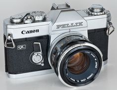 Canon Pellix - The Canon Pellix is the first SLR camera that Canon released that used TTL metering. It was released in 1965. The QL version was released one year later. Having this camera in my collection would very cool.