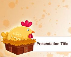 Chicken powerpoint a very colorful chick and eggs can be used for simple hen powerpoint template is a free ppt template with a hen picture in the slide toneelgroepblik Gallery
