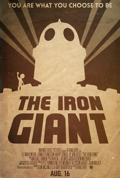 The Iron Giant - Alt. Minimalist Poster by disgorgeapocalypse.deviantart.com on @deviantART