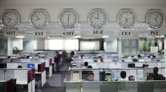 Workers are pictured beneath clocks displaying time zones in various parts of the world at an outsourcing centre in Bangalore February 29, 2012. The business of storing, decoding and analysing unstructured data - think video, Facebook updates, Tweets, Internet searches and public cameras - along with mountains of facts and figures can help companies increase profits, cut costs and improve service, and is now one of the world's hottest industries. It's called Big Data, and although much of…