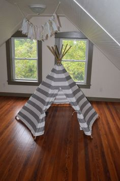 Teepee Play Tent children or toddler bamboo by BElittleyouandme