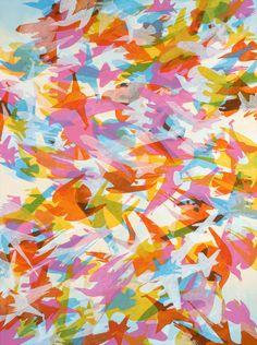 "Zigzag by Kara Maria  40 x 30"" acrylic on canvas  2005"