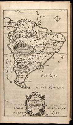 An unusual map of South America showing a giant imaginary aquifer in the Andes Mountains, from Mundis Subterraneus (The Underground World) by Athanasius Kircher, 1665 Vintage Maps, Antique Maps, Ancient Aliens, Ancient History, Hollow Earth, Underground World, Map Globe, Fantasy Map, Mystery Of History