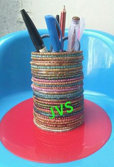 Pen Stand Made With Waste Material Things From Waste Material