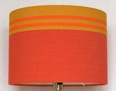 Lampenkap rood oranje geel streep patroon van kleurstudio op Etsy
