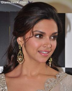 Deepika Padukone Traditional 2013 Hairstyle & Makeup