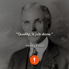 La calidad es el trabajo número uno.