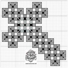 Hardanger-kors bokmerke 02