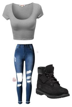 """Untitled #323"" by lydiaubblegum on Polyvore featuring Timberland"