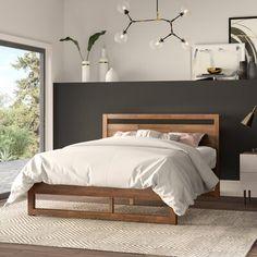 Ellerbe Mid Century Modern Platform Bed for Mid Century Modern Bedroom - Home Design Ideas Home Bedroom, Bedroom Furniture, Bedroom Decor, Bedroom Ideas, Bedroom Designs, Wood Bedroom Sets, Bedroom 2018, Budget Bedroom, Bedroom Rustic