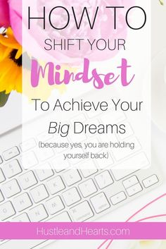 It's time to shift your mindset so you can achieve your dreams. Whether it be starting a blog, business, side hustle, or other creative pursuit, you have it in you to accomplish whatever you set your mind to. Plus I'm recommending my favorite self develop