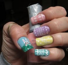 Easter Manicures Nail Treatments via Custom Nail Solutions To See all our Magnificent Manicures Including all our Holiday Manicures see: http://stillblondeafteralltheseyears.com/category/manicures/  #manicures #HolidayManicures #Easter
