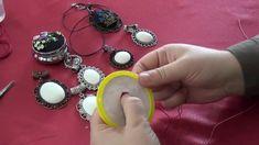 Etamin Jewelry Necklace, Rococo Patterned Brazil Handwork Jewelry Necklace How To Make? Embroidery Jewelry, Beaded Embroidery, Cross Stitch Embroidery, Embroidery Patterns, Cross Stitch Designs, Cross Stitch Patterns, Diy Sticker, Hand Embroidery Videos, Cross Stitch Heart